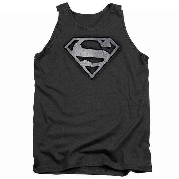Superman Duct Tape Shield - Adult Tank - Charcoal