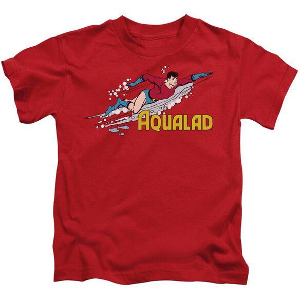 Dc Aqualad Short Sleeve Juvenile Red T-Shirt