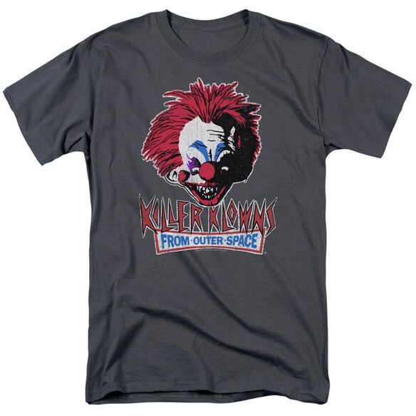 Killer Klowns From Outer Space Rough Clown Short Sleeve Adult Charcoal T-Shirt