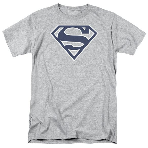 Superman Navy & White Shield Short Sleeve Adult Athletic T-Shirt