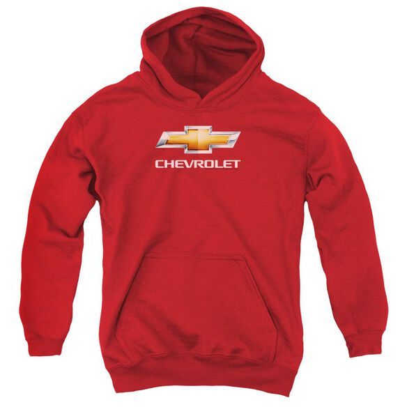 Chevrolet Chevy Bowtie Stacked Youth Pull Over Hoodie