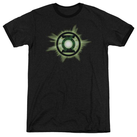 Green Lantern Green Glow Adult Heather Ringer
