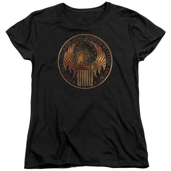 Fantastic Beasts Magical Congress Crest Short Sleeve Womens Tee T-Shirt