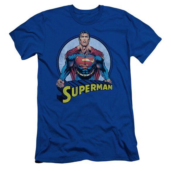 SUPERMAN FLYING HIGH AGAIN - S/S ADULT 30/1 - ROYAL BLUE T-Shirt