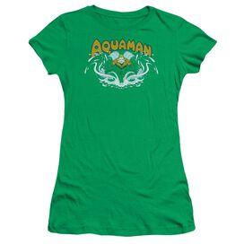 Dc Aquaman Splash Short Sleeve Junior Sheer Kelly T-Shirt