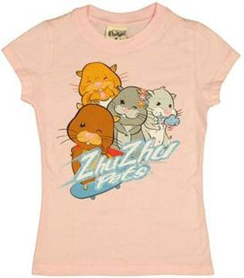 Zhu Zhu Pets Group Girls Youth T-Shirt
