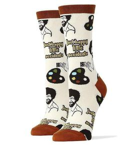 Bob Ross Happy Little Accidents Women's Crew Socks