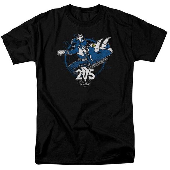 Power Rangers Blue 25 Short Sleeve Adult T-Shirt
