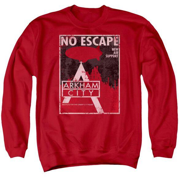 Arkham City No Escape - Adult Crewneck Sweatshirt - Red