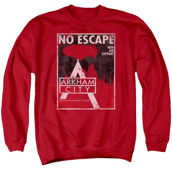 Arkham City No Escape - Adult Crewneck Sweatshirt - Red