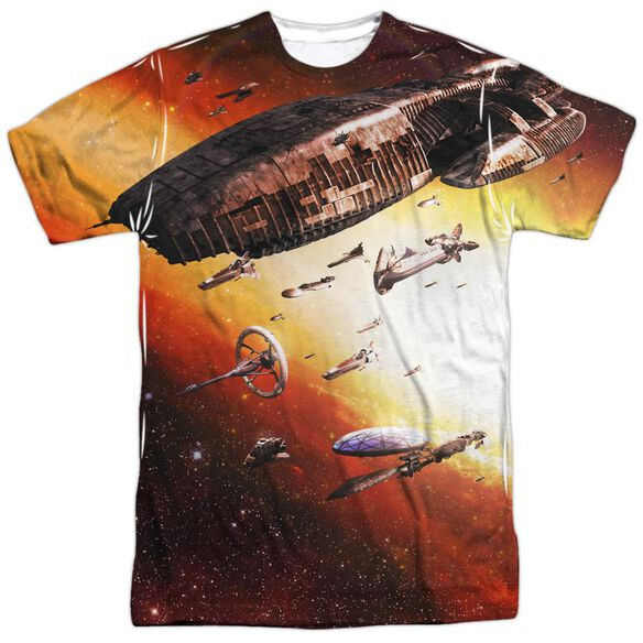 Bsg (New) Fleet Of Humanity Short Sleeve Adult Poly Crew T-Shirt
