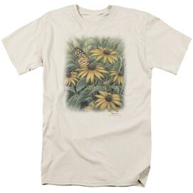Wildlife Monarch Butterfly Short Sleeve Adult Cream T-Shirt