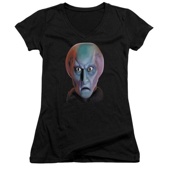 Star Trek Balok Head - Junior V-neck - Black