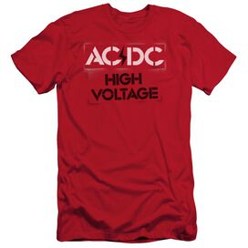 Acdc High Voltage Stencil Short Sleeve Adult T-Shirt