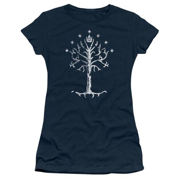Lor Tree Of Gondor Short Sleeve Junior Sheer T-Shirt