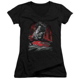 Superman Man Of Steel Junior V Neck T-Shirt