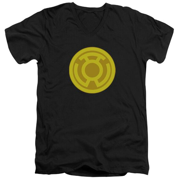 Green Lantern Yellow Symbol Short Sleeve Adult V Neck T-Shirt