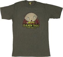 Family Guy Stewie Damn You T-Shirt Sheer
