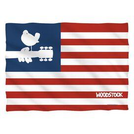 Woodstock Flag (Front Back Print) Pillow Case