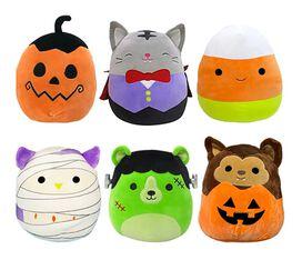 "Squishmallow 8"" Halloween Plush (Assorted) Dracula, Frankenstein, Candy Corn, Mummy, Werewolf & Jack-O-Lantern"