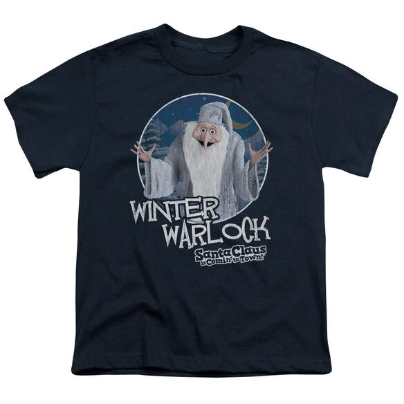 Santa Claus Is Comin To Town Winter Warlock Short Sleeve Youth T-Shirt