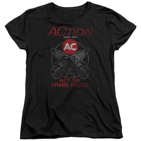 Ac Delco Cross Plugs Short Sleeve Womens Tee T-Shirt