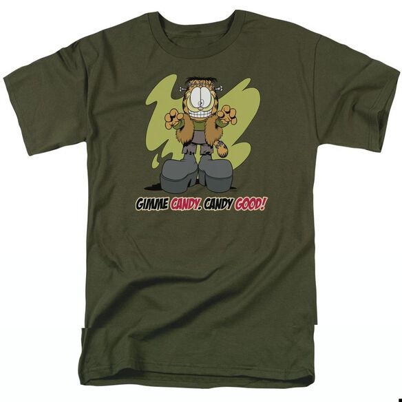 GARFIELD CANDY GOOD - S/S ADULT 18/1 - MILITARY GREEN T-Shirt