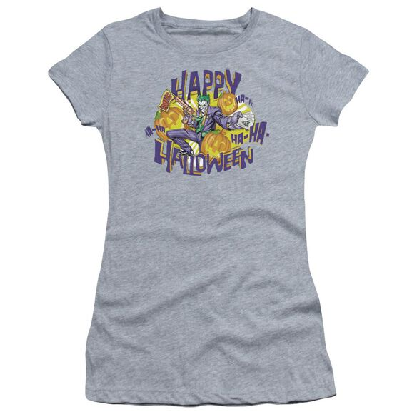 Batman Ha Ha Halloween Short Sleeve Junior Sheer Athletic T-Shirt
