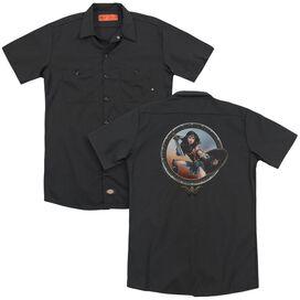 Wonder Woman Movie Battle Pose (Back Print) Adult Work Shirt