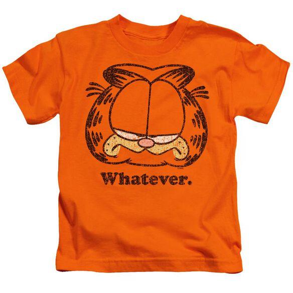 Garfield Whatever Short Sleeve Juvenile Orange T-Shirt