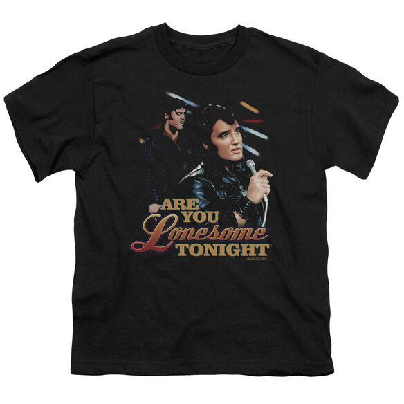 ELVIS PRESLEY ARE YOU LONESOME - S/S YOUTH 18/1 - BLACK T-Shirt