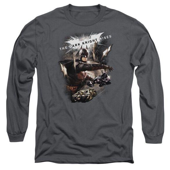 Dark Knight Rises Imagine The Fire Long Sleeve Adult T-Shirt