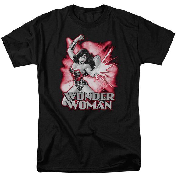 Jla Wonder Woman Red & Gray Short Sleeve Adult T-Shirt