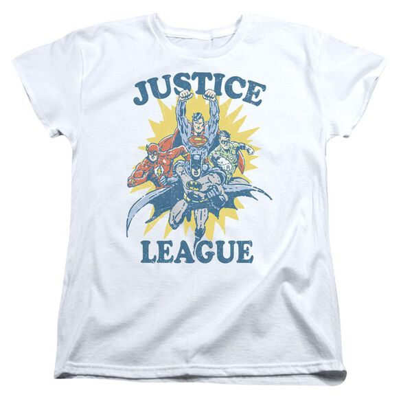 Jla Lets Do This Short Sleeve Womens Tee T-Shirt