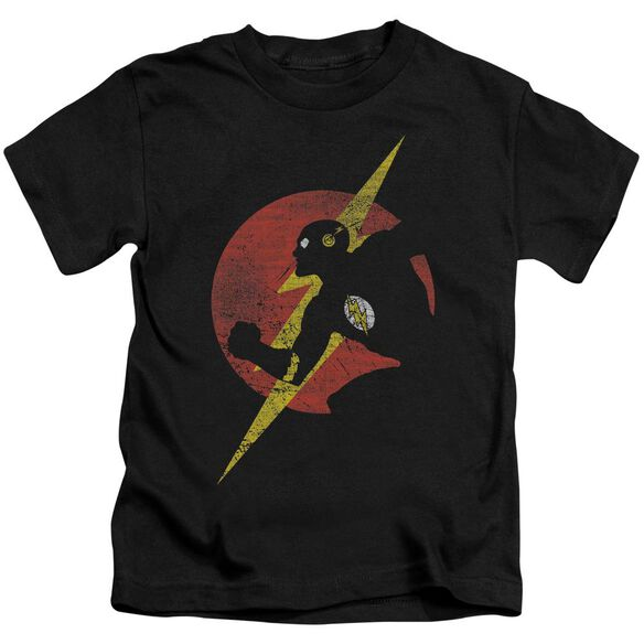 Jla Flash Symbol Knockout Short Sleeve Juvenile T-Shirt