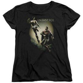 Injustice Gods Among Us Battle Of The Gods Short Sleeve Womens Tee T-Shirt