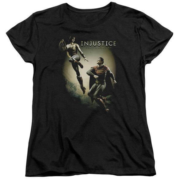 Injustice Gods Among Us Battle Of The Gods Short Sleeve Womens Tee T-Shirt