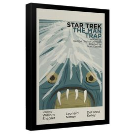 Star Trek Tos Episode 1 Canvas Wall Art With Back Board