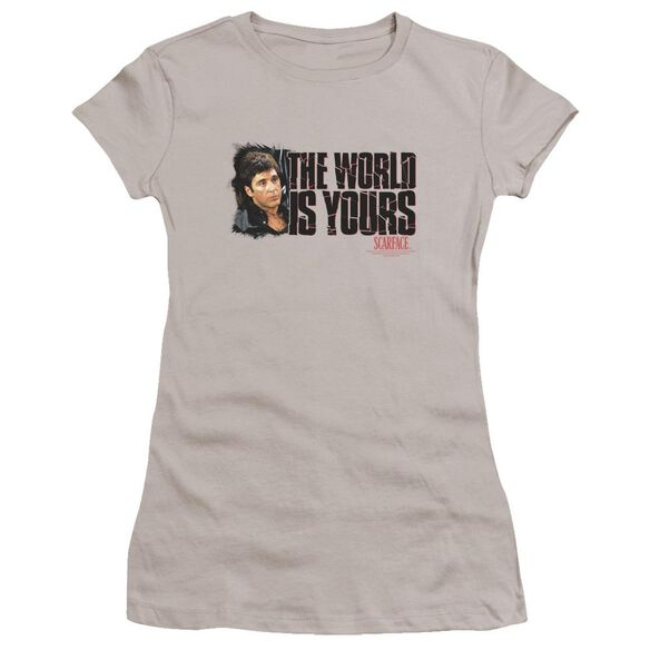 Scarface The World Is Yours Premium Bella Junior Sheer Jersey