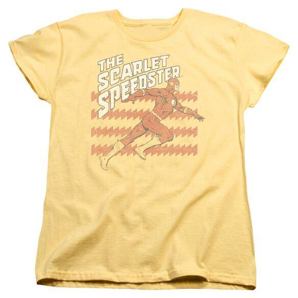 Dc Flash Scarlet Speedster Short Sleeve Womens Tee T-Shirt