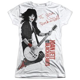 Joan Jett Rock N Roll Short Sleeve Junior Poly Crew T-Shirt