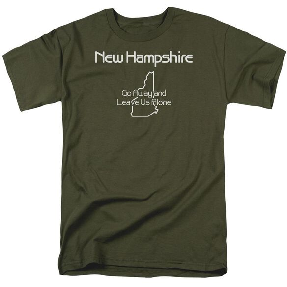 New Hampshire Short Sleeve Adult Military Green T-Shirt