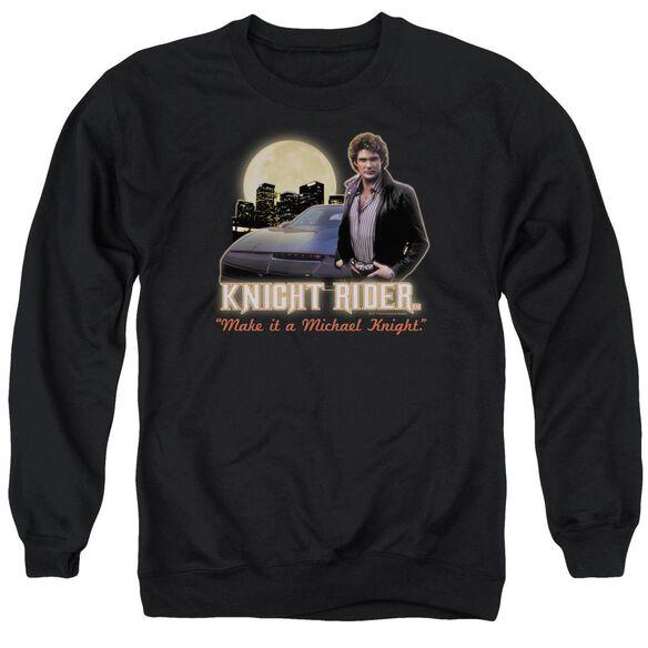 Knight Rider Full Moon Adult Crewneck Sweatshirt