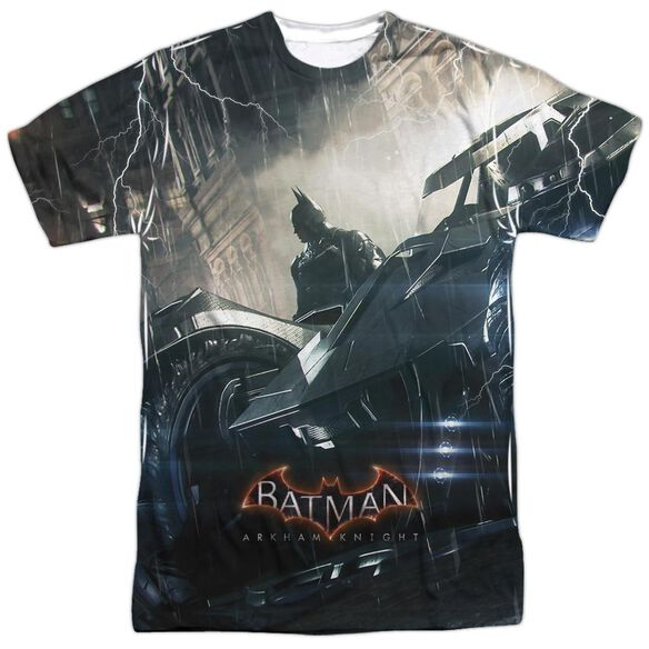 Batman Arkham Knight Into The Night Short Sleeve Adult Poly Crew T-Shirt