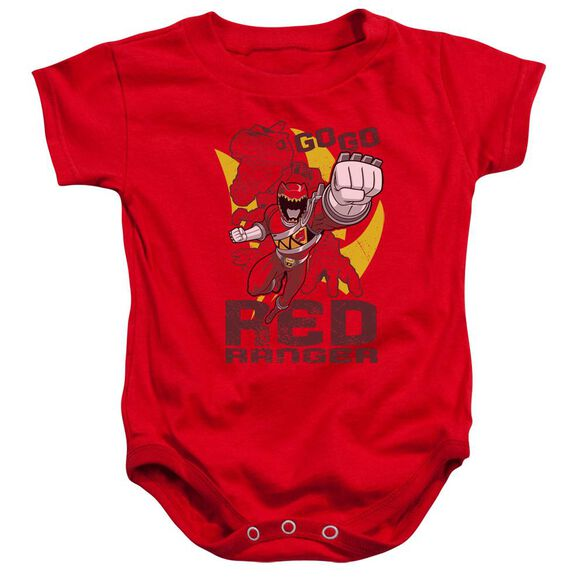 Power Rangers Go Red Infant Snapsuit Red