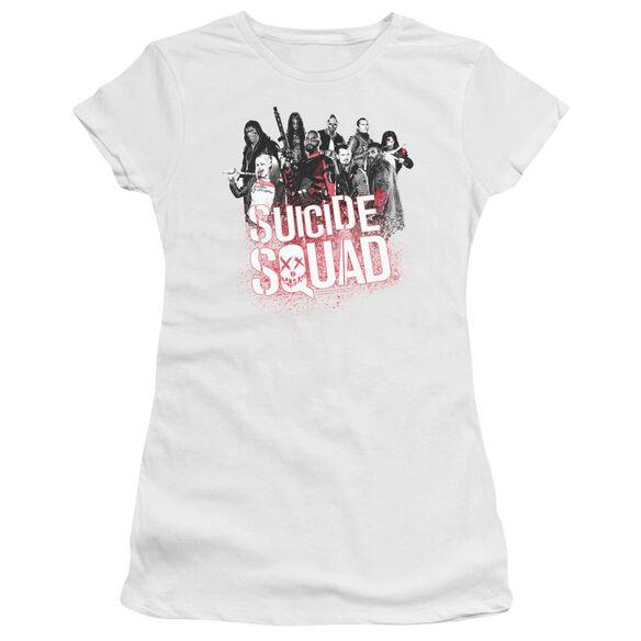 Suicide Squad Squad Splatter Premium Bella Junior Sheer Jersey