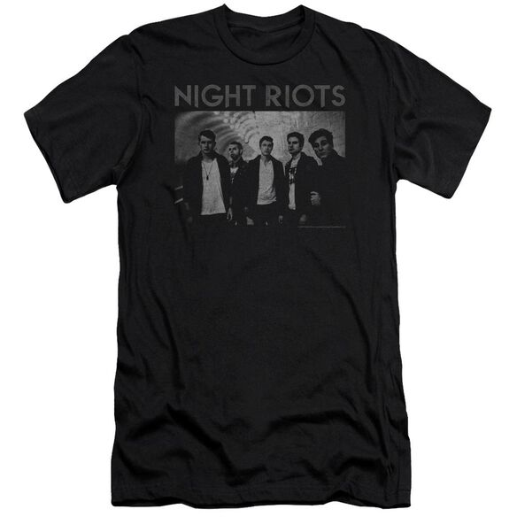 Night Riots Greyscale Hbo Short Sleeve Adult T-Shirt