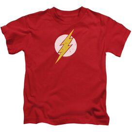 Jla Rough Flash Short Sleeve Juvenile Red T-Shirt