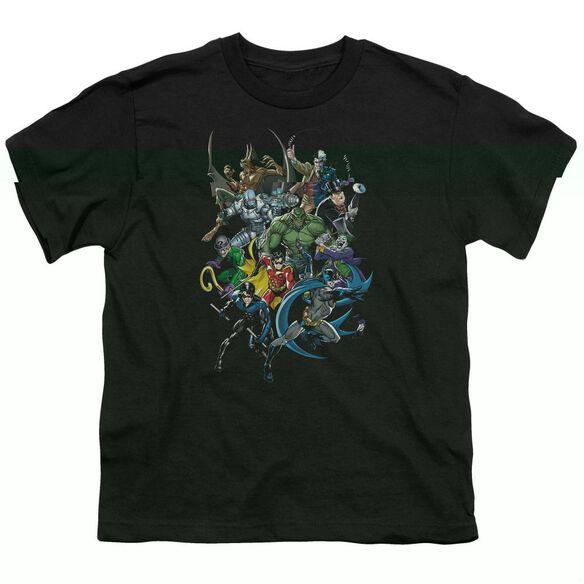 BATMAN SAINTS AND PSYCHOS - S/S YOUTH 18/1 - BLACK T-Shirt