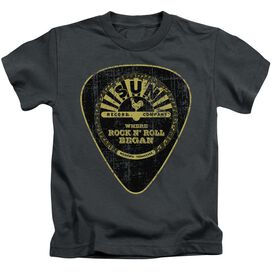 Sun Guitar Pick Short Sleeve Juvenile Charcoal T-Shirt